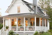 Porches - every home should have one / GANT Custom Homes in Western Oregon. Gathering design inspiration on Pinterest. At GANT Custome Homes we believe every home should have a covered front porch. Front porches have numerous functions ... get in out of the weather, meet neighbors there, relax in the shade there, transition from the outside to the inside, and the inside to the outside, curb appeal ...