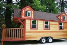 "The Tiny House Idea / My first ""tiny house"" was in Kodiak made by my first husband in 1980. He bought a truck, ripped off the bed, and built a tiny house on it. It had 6 inches of insulation all the way around it, and could be kept warm with an oil lantern. It wasn't a real comfortable way to live, it was very small, and he was a big man and we had a dog. Some ppl made theirs in little delivery vans...  I saw one that had a double bed and a potbelly stove.  I loved that. These houses are huge in comparison! / by Lisa Albus Guess"