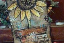 Mixed Media Art & Art Journal Ideas / by Trista Rajaratnam