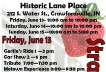 Strawberry Festival / The Strawberry Festival is June 13-15 at Lane Place, 212 S. Water Street. Come sample a delicious variety of foods, buy craft items, and enjoy music on a beautiful antebellum mansion's lawn.