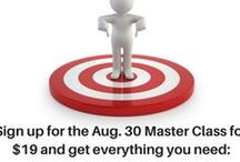 60 Minutes to Mastery! / A listing of current and archived master classes: one topic, 60 minutes to book marketing mastery for authors.