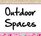 Outdoor Spaces ♥ / Home outdoor decor, outdoor fun, backyard fun, yard party ideas, Garden decor, garden party, & other outdoor pretties!