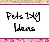 Pets DIY Ideas ♥ / Dog Beds, Dog Houses, Pet toys, etc.