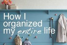Organize It / Tips and tricks for a clean, well-organized home