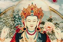 White Tara / Oṃ Tāre Tuttāre Ture Mama Ayuḥ Punya Jñānā Puṣtiṃ Kuru Svāhā / by Nina Yasakova