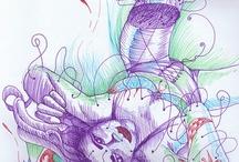 - A,Ilustração,Printmaking,Desenho,Patterns,textures,Calligraphy,Zentangles,Symbols,Doodles,etc... / Ilustração e afins/Illustration and related.