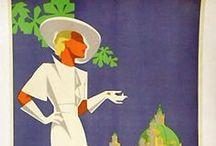 Design-Vintage Travel posters / Design - Vintage Travel posters of yesteryear