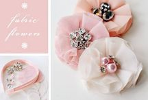 Create it - FABRIC FLOWER it! / Rosettes, fabric flowers, and more