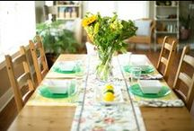 My Dining Room~Laura Leigh Designs / My dining room space in my home in upstate New York.