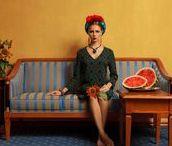 I N S P I R A T I O N | frida / Eine Sammlung von Selbstportraits und Werken von und über Frida Kahlo.