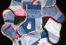 Denim Christmas Stockings!