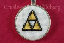 Cross Stitch Geekery by Creative Chaos Stitchery! / Necklaces, keychains and even earrings!  More to come! :D / by Angela Wall