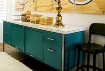 Credenza Inspiration / Buffets and Credenzas are functional in a number of different rooms.  You can leave the wood finish or you can paint them - a neutral, or a vibrant fun color.