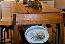 Farm Tables and More / I love a pretty farm table.  And a pretty island.  Oh and Potting Benches, too.  Mmm. Mmm. Mmmmm. / by Denise {First a Dream}