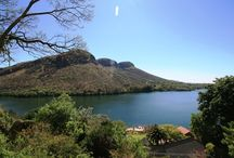 Hartbeespoort  Dam Kosmos  South Africa / A  peaceful breath taking  haven  nestled in mountains on the dam