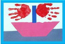 At the sea / Preschool  theme art activities