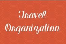 Travel Organization / I love to be #organized when I #travel. There is nothing more fun than contraptions and containers that keep you from searching for stuff during your #vacation or #businesstrip