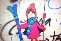 Lux bombing 17 / Pink Artstreet Lux de vacaciones de invierno. Ski, frío deporte.  Las Leñas - Argentina