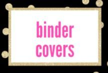 Printable Binder Covers / Binders make every girlboss's office pretty and organized. Here is my collection of a tons of printable binder covers that you can easily upload to picmonkey, add text and then print them off and insert into any binder. Check them out. They are so cute and fun. Sure to make any office adorable.