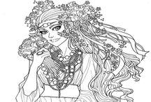 Adult coloring pages / by Brooke Peyton