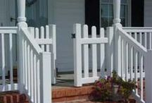 Porch Gates / Keep the dogs off the newly painted porch. / by Denise {First a Dream}