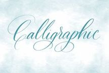 Calligraphic / Penmanship perfected. Hand lettering and calligraphy inspiration.