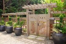Gardening: Paths, Patios, Arbors and Gates / by Ruth :)