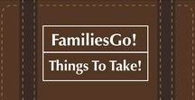 FamiliesGo! Things To Take / #toys, #games, #gear #luggage #accessories for #kids, #moms, #teens and #babies. The best products that make it easier to #travel with your #family.