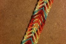 Friendship Bracelet / Boondoggle Patterns / Friendship bracelet and boondoggle / rexlace / craftlace patterns / by Emily King