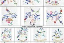 Redwork, Colorwork, Etc. / Machine Embroidery Designs