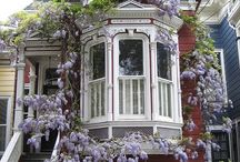 { curb appeal } / Front curb appeal flowers stairway doors windows / by Summertime Cottage
