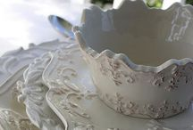 { dishes at the cottage } / Vintage dishes tea cups platters / by Summertime Cottage
