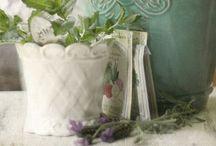 { aqua•marine cottage } / Turquoise, aqua, vintage, flowers, feminine / by Summertime Cottage