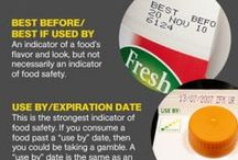 Food Safety / Food storage tips, cooking times, contamination, expiration dates, use-by dates.