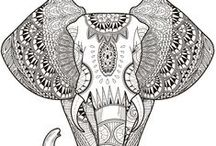 Adult Coloring Pages and Ideas / Adult, fantasy colouring pages - get creative!