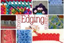 crocheting and knitting / by Cynthia Monroe