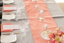 Coral and Gray Wedding