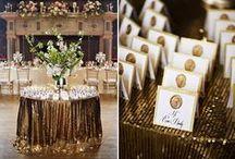 Modern Bling Wedding / Modern and sparkly wedding ideas
