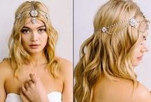 Sara Gabriel Headpieces, Veils & Jewelry at Perfect Details / Sara Gabriel headpieces, bridal hair accessories, bridal veils and short veils at perfectdetails.com.  Influenced by 40's starlets & Old Hollywood Glamour. And for 2015 new boho chic hair ribbons and halos and we have added jewelry too. / by Perfect Details ~ Designer Bridal Jewelry & Accessories
