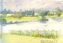 Art Watercolor Landscapes