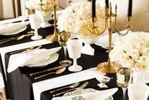 Black and White wedding ideas / Black and white and damask ideas