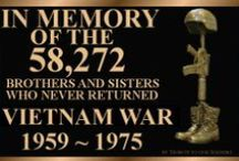 Vietnam War / Every American war has found it's way to my heart.  It is the Vietnam War that is the most painful for me. This war was filled with the children of world War II veterans that had once rid the world of tyranny. A war not meant to be won! But so sad  was the coming home to empty airports and verbal abuse  they faced. Some of the things they did were HORRIBLE! However, they did as they were ordered to do. What they live with everyday is as much hell as the war itself was.  Let's not judge. / by pam baker- bairnsfather