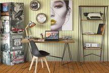 Florence / Compuesta por muebles de hierro y madera de abeto con acabado natural envejecido. Ideal para crear ambientes o pequeños toques de estilo industrial.