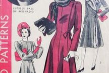 1940s Fashions / 1940s vintage fashions to create from vintage sewing patterns, get that Film Noir look, be a Veronica Lake, Rita Hayworth, Lauren Bacall....