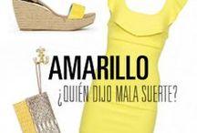Amarillo / El amarillo es uno de los colores tendencia para este verano. Olvídate de las supersticiones y llena tu armario del color de sol