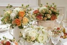 Tablescapes / Beautiful table scape ideas.