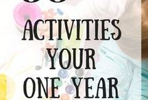 Baby Activities / Great activities to keep infants busy and learning! At least while they aren't sleeping!
