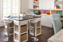 Work Space Craft Room / Craft rooms and organizing tips / by Sarah Boyce Collier