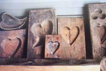 Hearts: Antique, Antique-ish