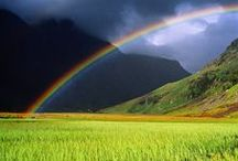 Somewhere over the... / Rainbow